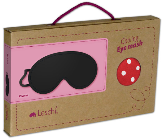 Eye mask | Peanut Colour: Polka dot red / Midnight – Bild 3