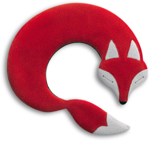 Warming pillow | Noah the fox Colour: Chocolate / Midnight