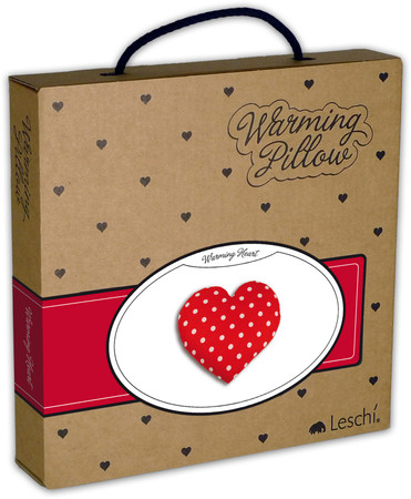 Warming pillow | Warming Heart | big Colour: Polka dot red – Bild 3