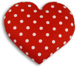 Warming pillow | Warming Heart | big Colour: Polka dot red