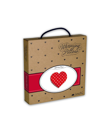 Warming pillow | Warming Heart | small Colour: Polka dot red – Bild 2