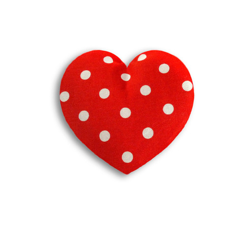 Warming pillow | Warming Heart | small Colour: Polka dot red – Bild 1