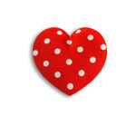 Warming pillow | Warming Heart | small Colour: Polka dot red