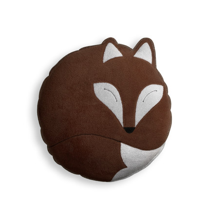 Cuddly cushion | Paco the fox | small Colour: Chocolate / Midnight
