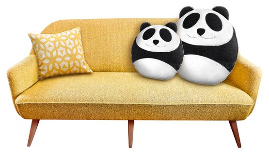 Cuddly cushion | Wang the panda | small Colour: Midnight / Midnight – Bild 2