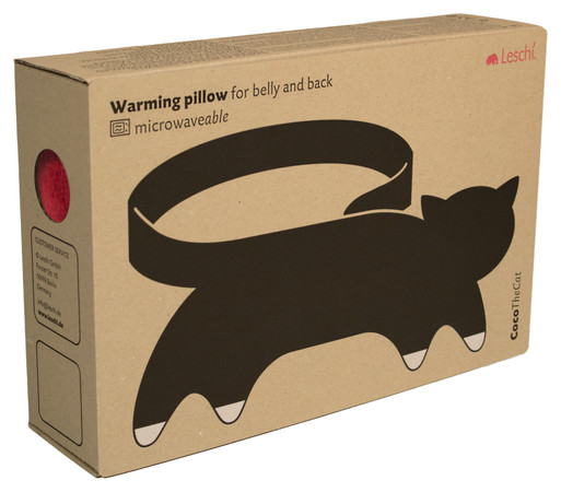 Warming pillow | Coco the cat Colour: Fire / Midnight – Bild 3