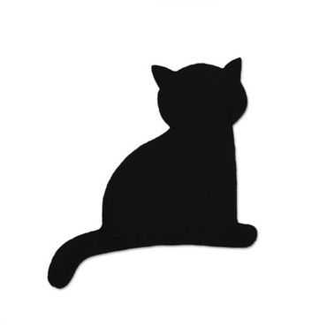 Warming pillow | Minina the cat | sitting | small | Midnight / Midnight – Bild 1