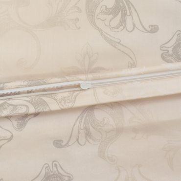 Estella Schweizer Premium Satin Bettwäsche Svizzera Größe 200x220+2x80x80+2x40x80 cm Farbe Sand – Bild 3