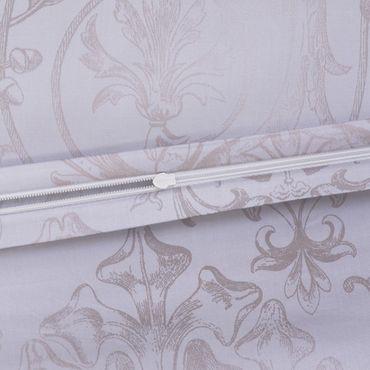 Estella Schweizer Premium Satin Bettwäsche Svizzera Größe 200x220+2x80x80+2x80x80 cm Farbe Silber – Bild 3