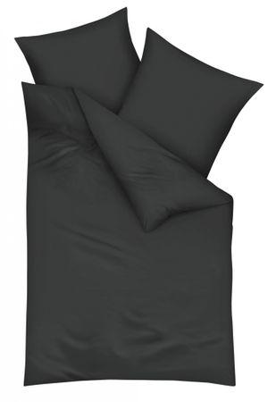 Kaeppel Mako Satin Bettwäsche Uni Größe 135x200+80x80 cm Farbe Titanium
