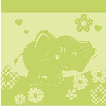Ross Baby  Kinder Badetuch Elefant  Größe 100x100 cm  Farbe Grün