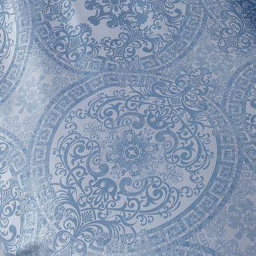 Curt Bauer Mako Brokat Damast Bettwäsche Odyssa Größe 135x200+80x80 cm Farbe Ozean – Bild 2