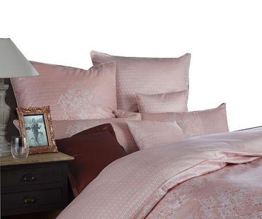 Curt Bauer Mako Brokat Damast Bettwäsche Juliette Größe 155x200+80x80 cm Farbe Rose