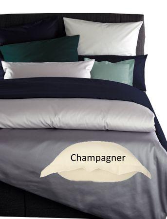 Curt Bauer Mako Satin Bettwäsche Uni Größe 135x200+80x80 cm Farbe 2219 Champagner – Bild 1