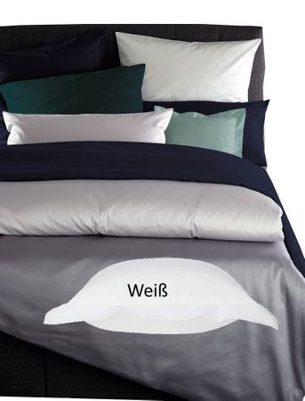 Curt Bauer Mako Satin Bettwäsche Uni Größe 200x200+2x80x80 cm Farbe 0000 Weiß