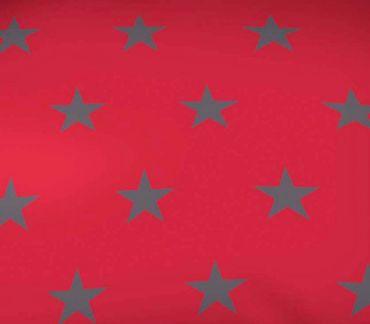 Kaeppel Mako Satin Bettwäsche Essential Stars Größe 155x220+80x80 cm Farbe Rubin – Bild 3