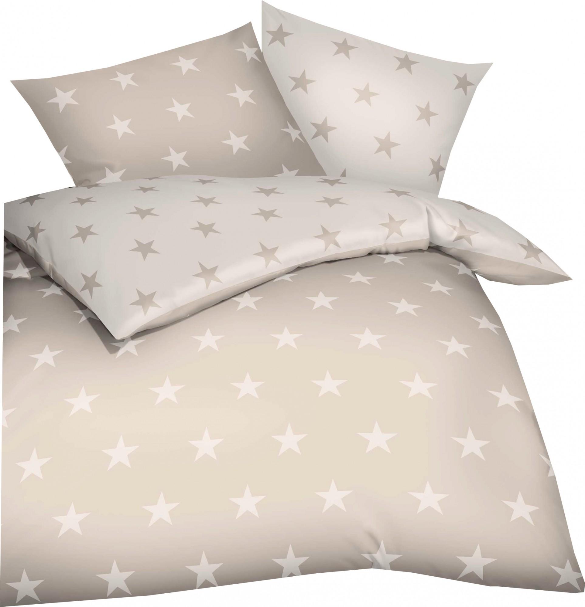 Kaeppel Mako Satin Bettwasche Essential Stars Grosse 200x200 2x80x80