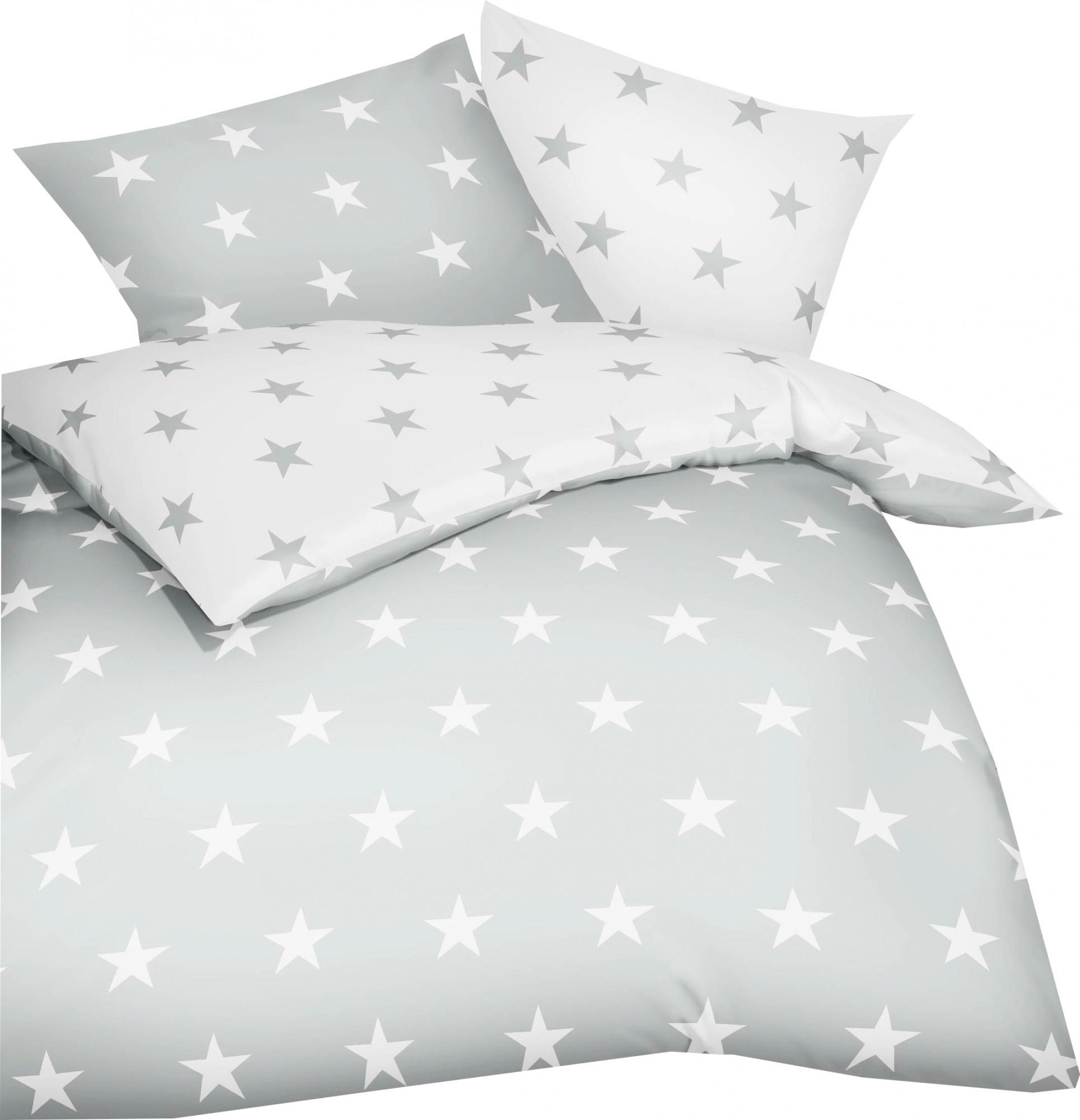 Kaeppel Mako Satin Bettwäsche Essential Stars Größe 135x20080x80 Cm