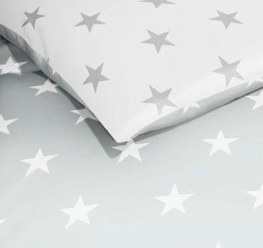 Kaeppel Mako Satin Bettwäsche Essential Stars Größe 200x200+2x80x80 cm Farbe Schiefer – Bild 2