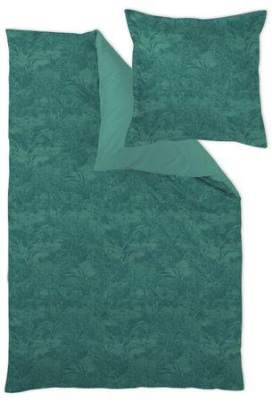 Curt Bauer Mako Brokat Satin Bettwäsche Calista Größe 240x220+2x80x80 cm Farbe Evergreen