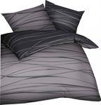 Kaeppel Mako Satin Bettwäsche Essential Motion Größe 135x200+80x80 cm Farbe Zinn