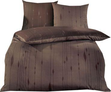 Kaeppel Mako Satin Bettwäsche Essential Cocoon Größe 200x200+2x80x80 cm Farbe Braun