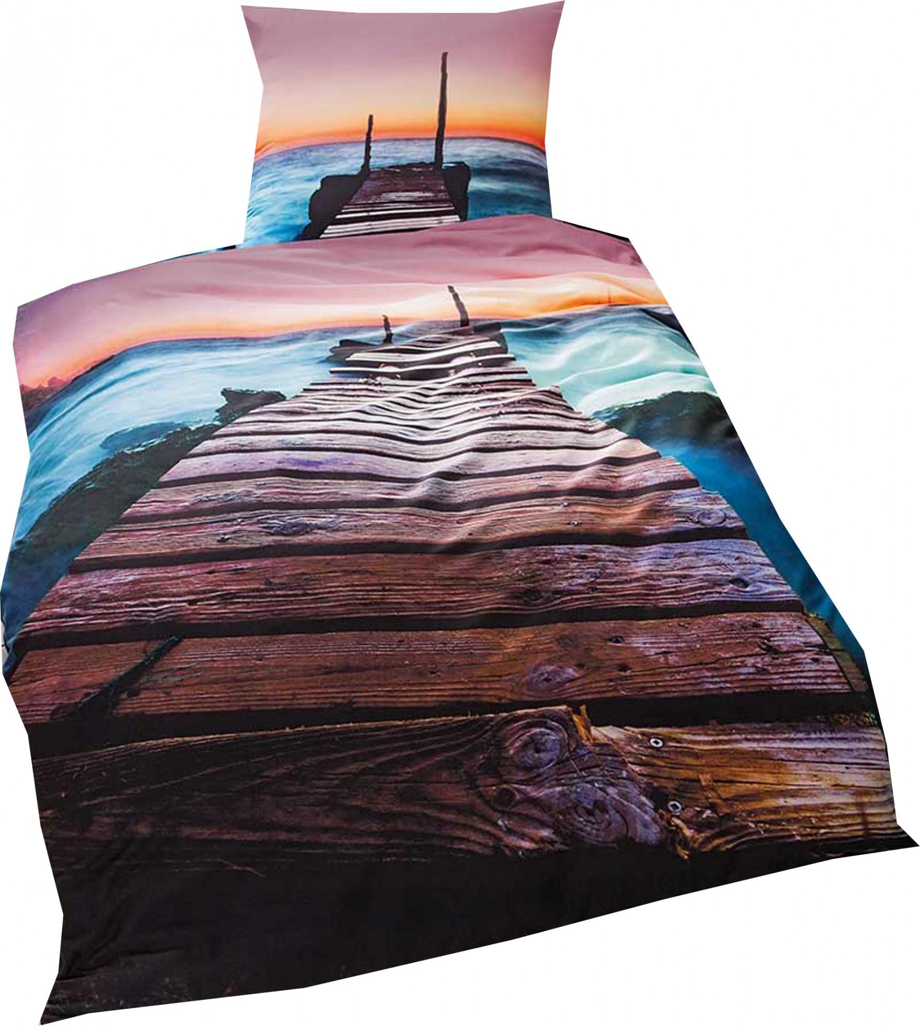 kaeppel mako satin digitaldruck bettw sche ibiza gr e 135x200 80x80 cm farbe aqua bettw sche. Black Bedroom Furniture Sets. Home Design Ideas
