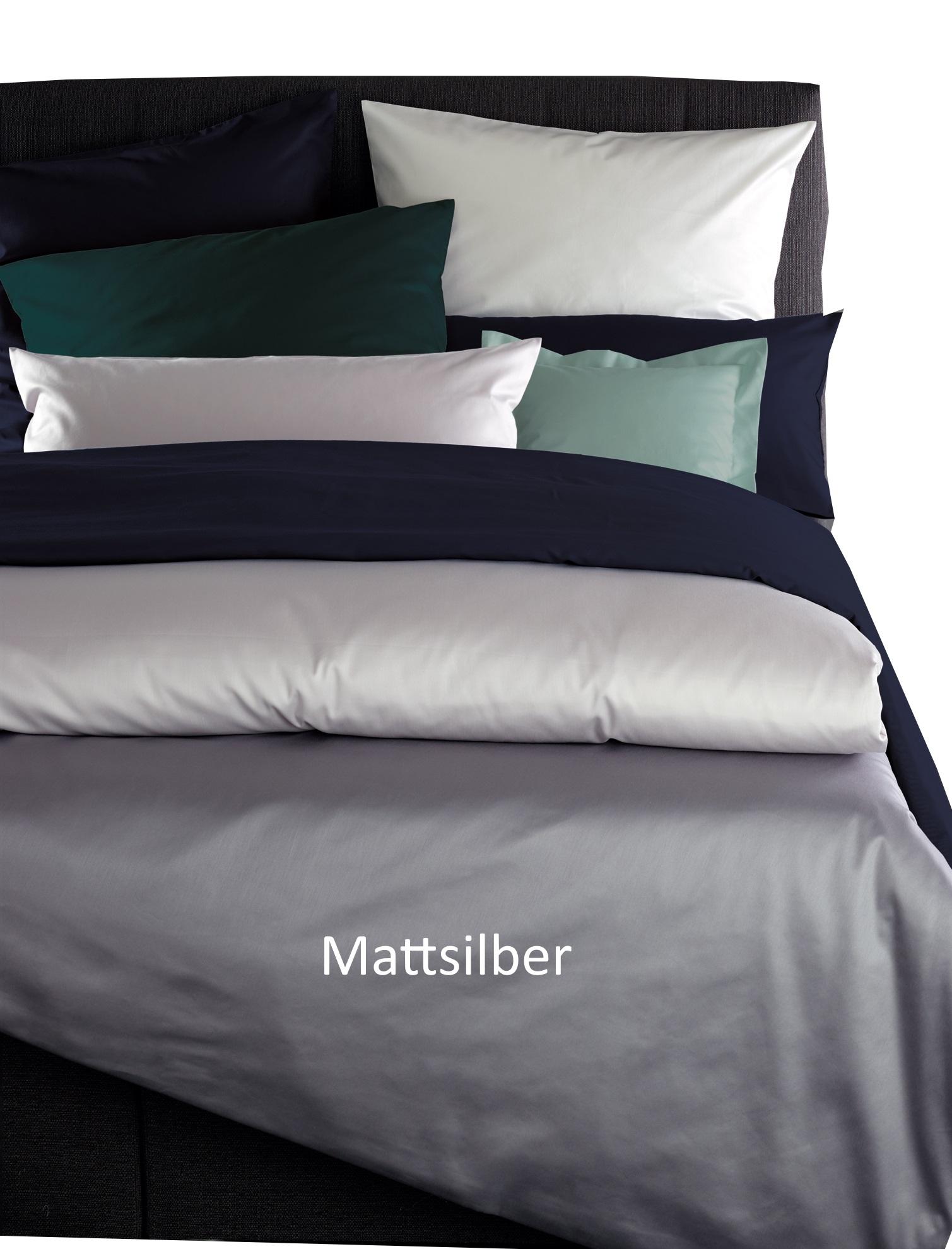 Curt Bauer Mako Satin Bettwäsche Uni Größe 200x2002x80x80 Cm