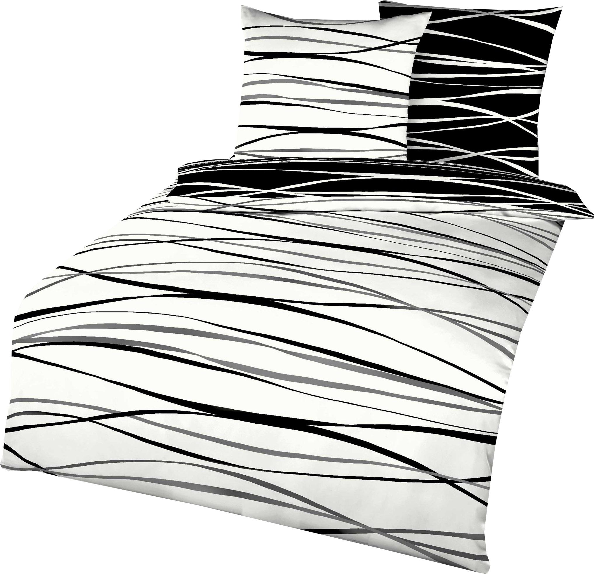 Kaeppel Mako Satin Bettwäsche Essential Motion Größe 155x22080x80