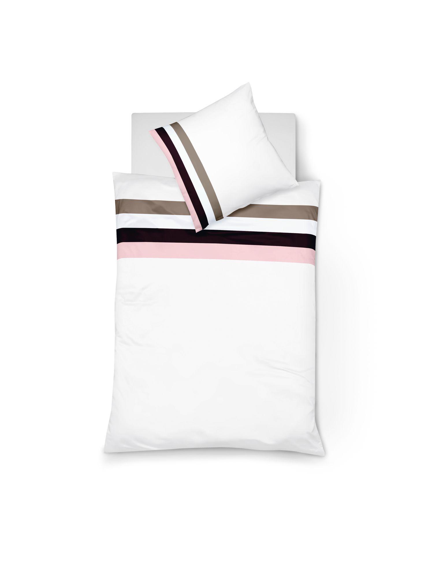 fleuresse mako satin bettw sche colours k gr e 155x220 80x80 cm farbe rose bettw sche bettw sche. Black Bedroom Furniture Sets. Home Design Ideas