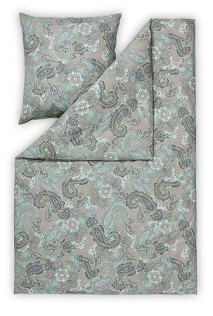 Estella Samt & Seide Flanell Bettwäsche Pians Größe 135x200+80x80 cm Farbe Nougat – Bild 2