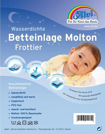 Alvi Baby Kinder Betteinlage Nässeschutz Molton/Frottier