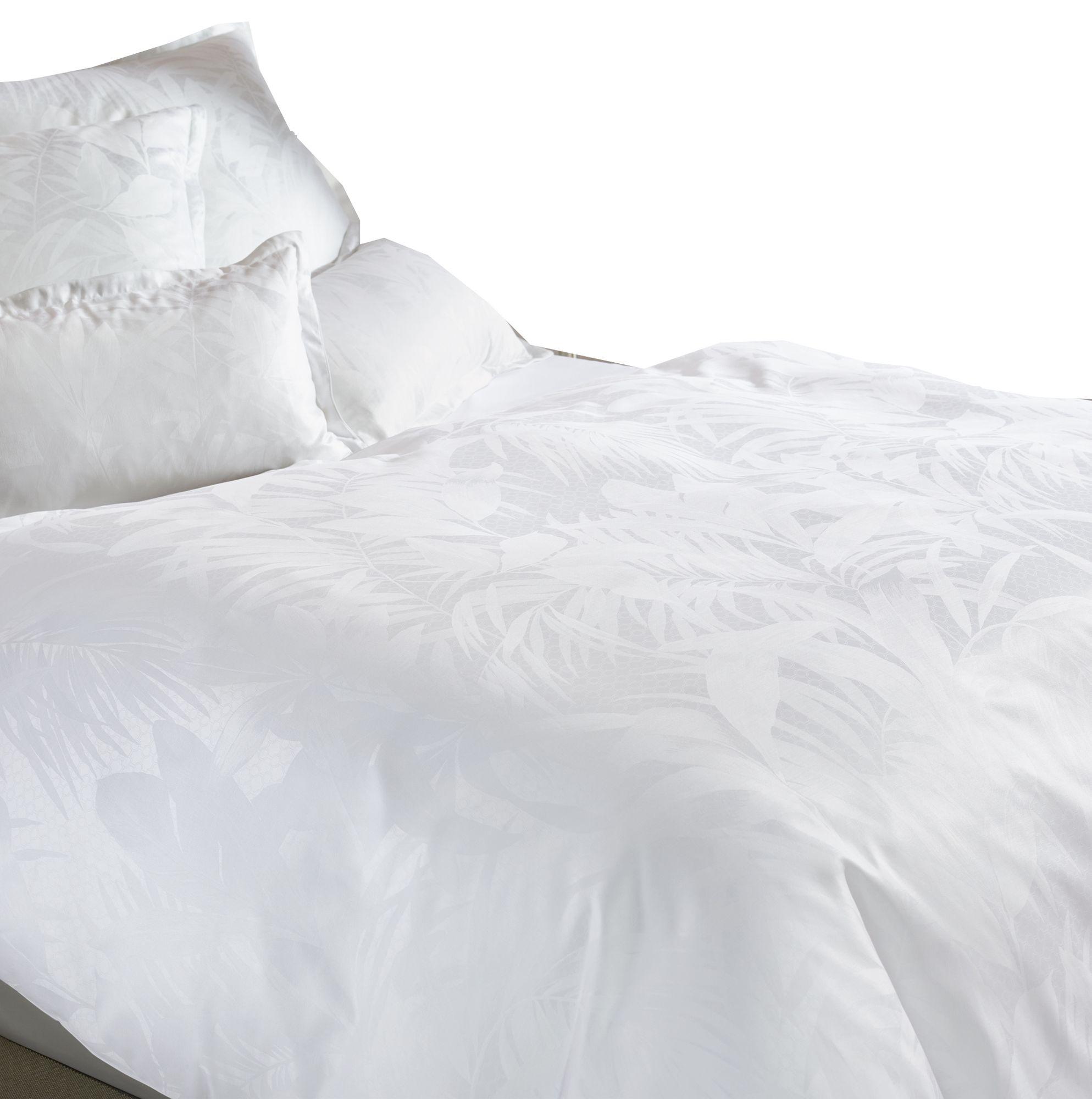 curt bauer mako brokat damast bettw sche cannes gr e 155x220 80x80 cm farbe wei bettw sche. Black Bedroom Furniture Sets. Home Design Ideas