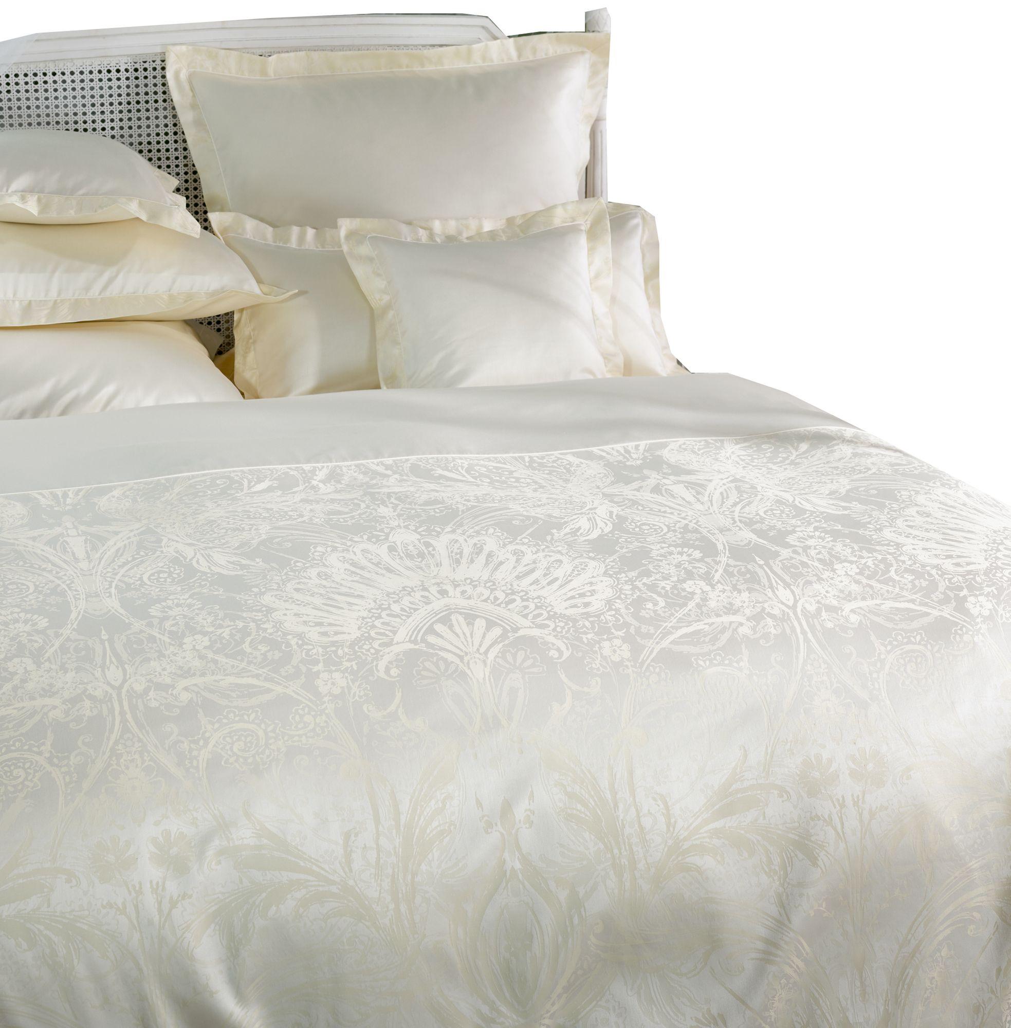 curt bauer mako brokat damast bettw sche avignon gr e 155x220 80x80 cm farbe champagner. Black Bedroom Furniture Sets. Home Design Ideas
