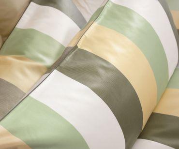 Curt Bauer Mako Brokat Damast Bettwäsche Montpellier Größe 140x200+70x90 cm Farbe Jade Gelb – Bild 2