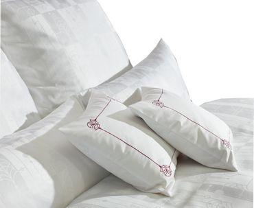 Curt Bauer Mako Brokat Damast Bettwäsche Cassis Größe 240x220+2x80x80 cm Farbe Weiß – Bild 3