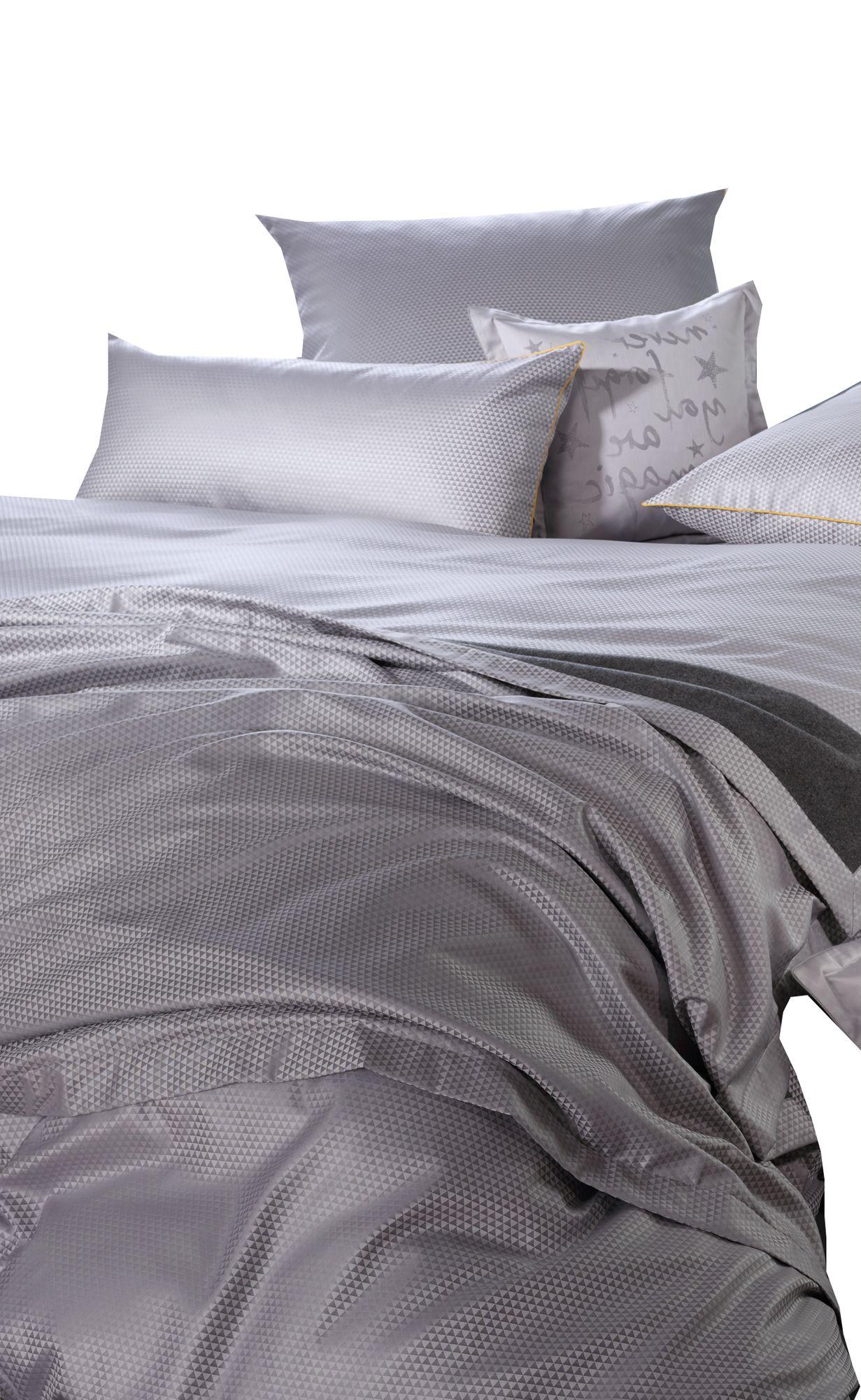 curt bauer mako brokat damast bettw sche maris gr e 155x220 80x80 cm farbe perlgrau bettw sche. Black Bedroom Furniture Sets. Home Design Ideas