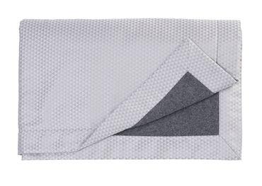 Curt Bauer Edles Wohnplaid Maris Größe 130x190 cm Farbe Perlgrau – Bild 2