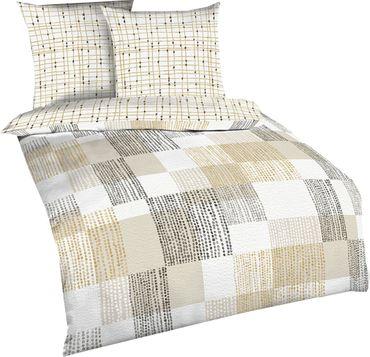 kaeppel baumwolle seersucker bettw sche mindset gr e 135x200 80x80 cm farbe natur bettw sche. Black Bedroom Furniture Sets. Home Design Ideas
