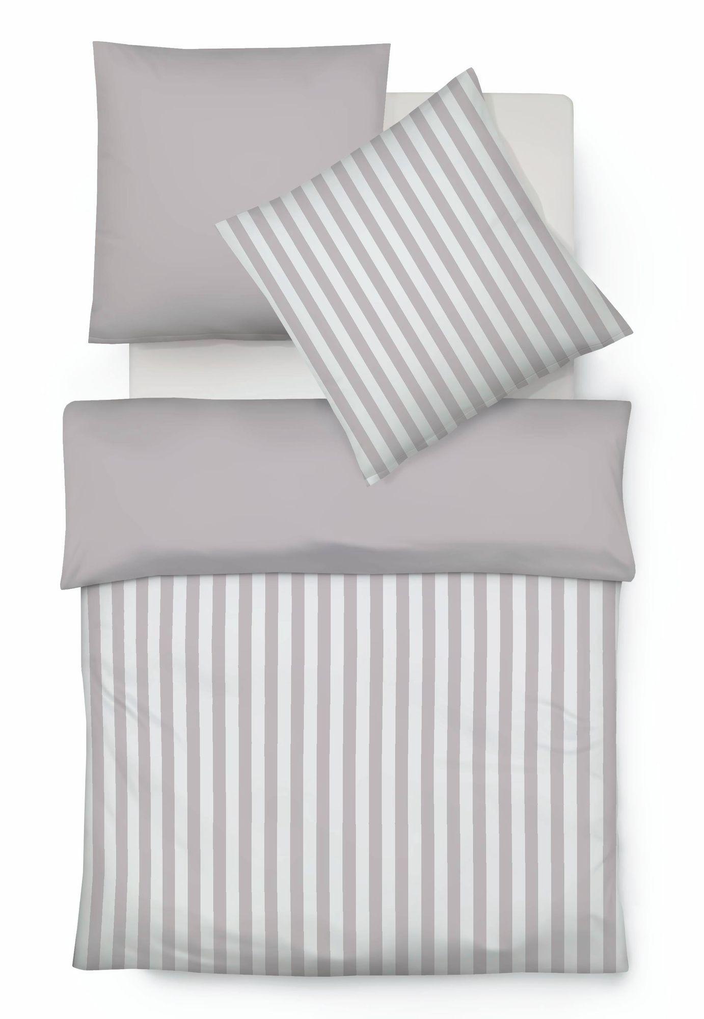 Fleuresse Baumwolle Wende Bettwäsche Porto Streifen Größe 155x220