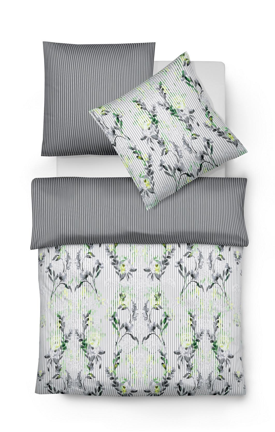 Fleuresse Mako Satin Digitaldruck Bettwäsche Hamptons Bed Art S Größe 155x22080x80 Cm Farbe Limette
