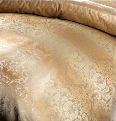 Curt Bauer Mako Brokat Damast Bettwäsche Florenz Größe 200x200+2x80x80 cm Farbe Perlcreme – Bild 2