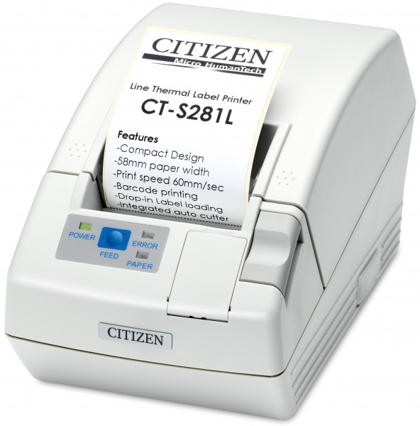 Citizen CT-S280, LPT, 8 Punkte/mm (203dpi), weiß