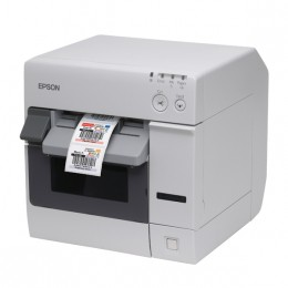 Epson TM-C3400, Cutter, Ethernet, NiceLabel, weiß