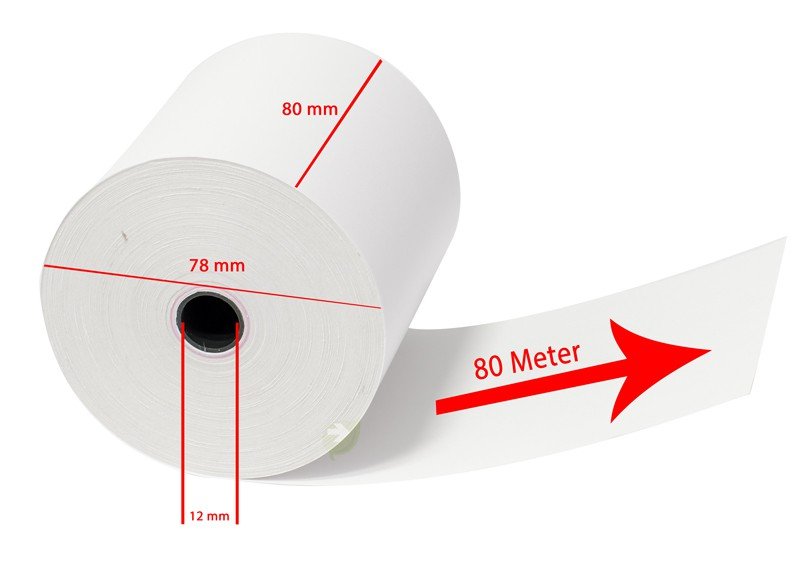 80mm receipt rolls (pack of 5) – Bild 2