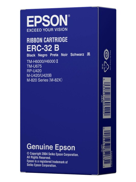Epson ERC 32, colour ribbon, black