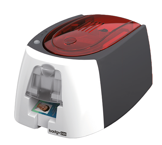 Evolis Badgy200, single sided, 12 dots/mm (300 dpi), USB