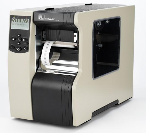 R16-80E-00004-R1 Zebra 110Xi4, 24 Punkte/mm (600dpi), RFID, ZPLII, Multi-IF, Printserver (Ethernet)