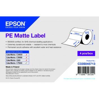 Epson Etikettenrolle, Kunststoff, 102x76mm