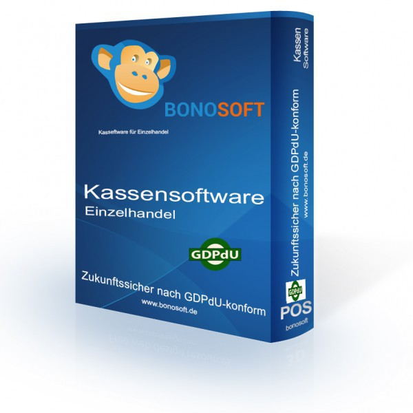 Kassensoftware BonoSoft Advanced für den Einzelhandel (Einzelplatzversion)